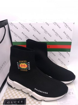 Кроссовки Balenciaga  Speed Trainer x GUCCI Арт.21103