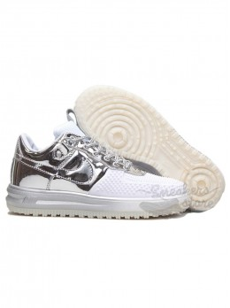 Кроссовки Nike Air Force Lunar Серебристые
