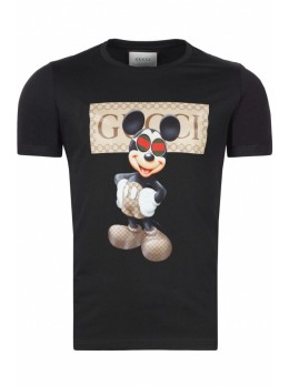Gucci футболка Mickey Mouse Black