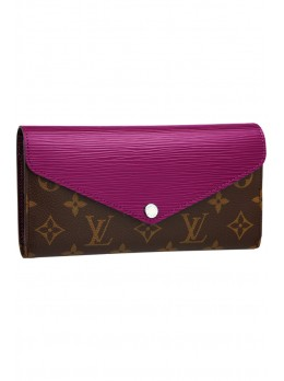 Модный кошелек Louis Vuitton Marie-Lou Long Wallet Turquoise *