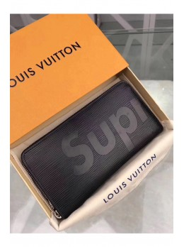 Кошелёк Louis Vuitton Supreme 2017 Eclipse - Black 19х10 см