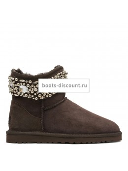 UGG Jimmy Choo Multicrystal Chocolate