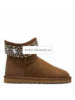 UGG Jimmy Choo Multicrystal Chestnut